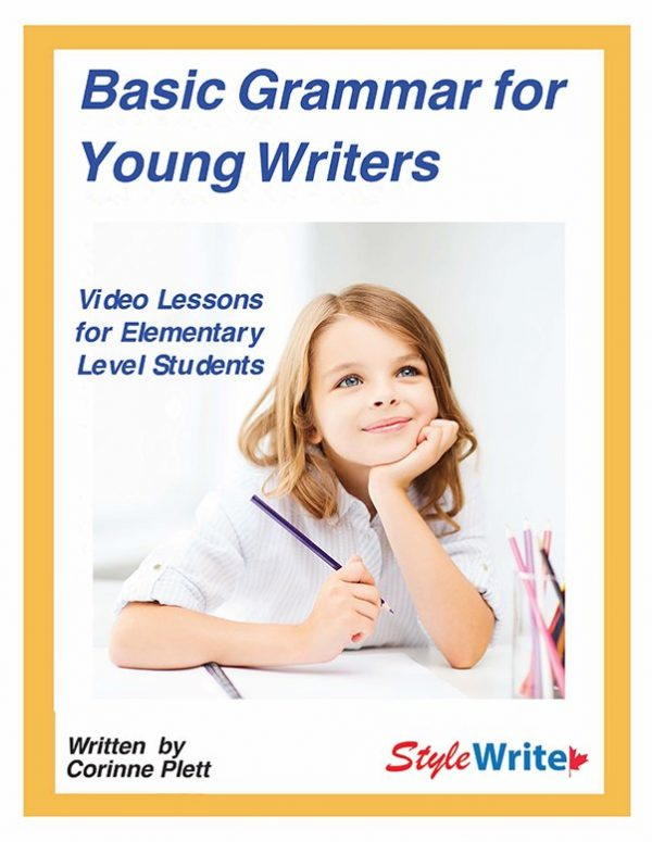 Basic Grammar for Young Writers Video Course